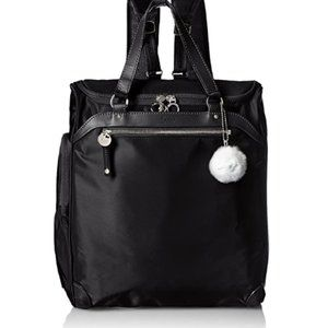 Women's black backpack set